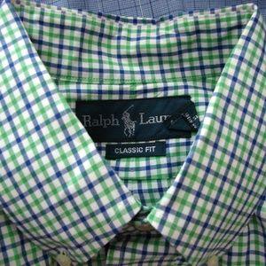 men's Ralph Lauren Polo shirt xl multi color plaid